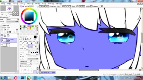 cara membuat paint tool sai version tutorial paint tool sai cara mewarnai kulit anime cuma