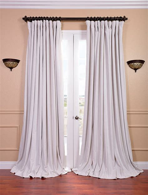 off white velvet curtains off white velvet blackout extra wide curtain panel