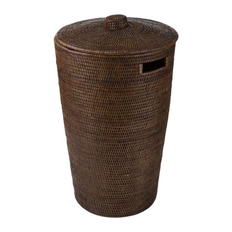 Buy Baolgi Round Laundry Basket Teak Amara Teak Laundry