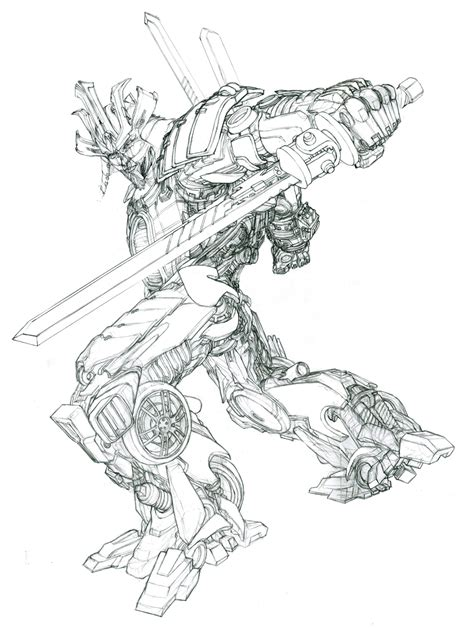 transformers drift coloring page drawn transformers drawing transformers 4 pencil and in