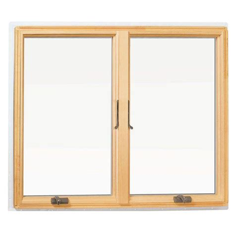 anderson awning window andersen 48 in x 48 in 400 series casement wood window with white exterior 9117172