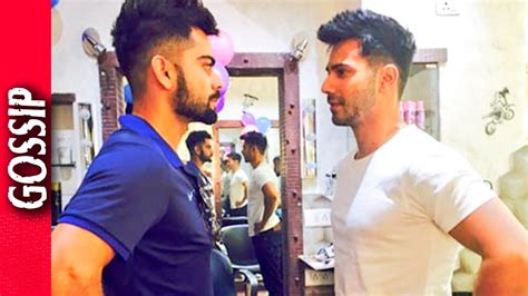 varun dhawan hair cutting name varun dhawan copies virat kohlis hair cut bollywood