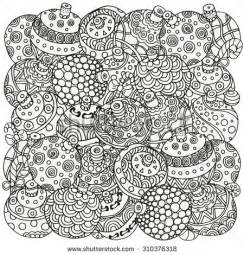 pattern coloring book christmas hand drawn decorative elements vector fancy christmas