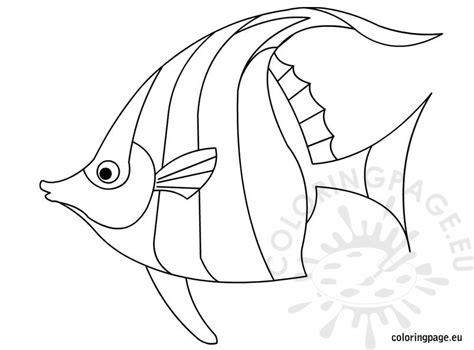 Fish Coloring Page Fish Outline Coloring Page