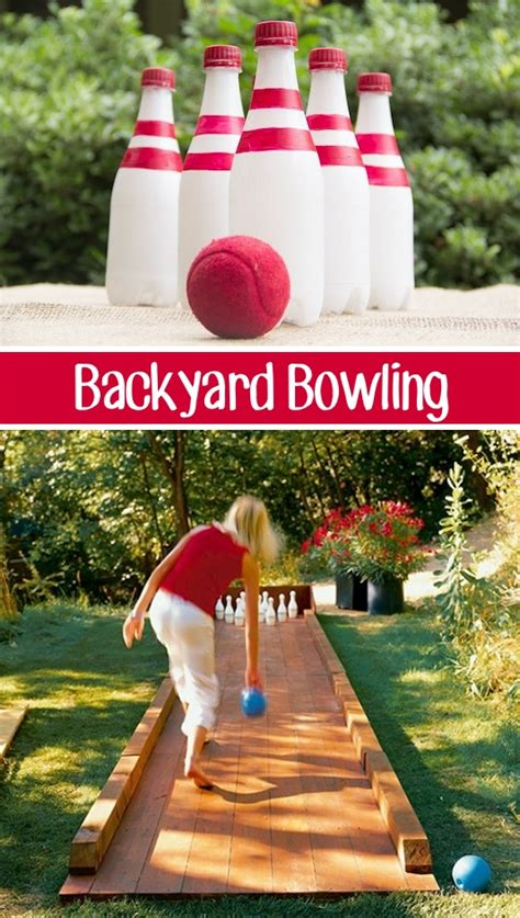 diy backyard bowling alley outdoor furniture design and