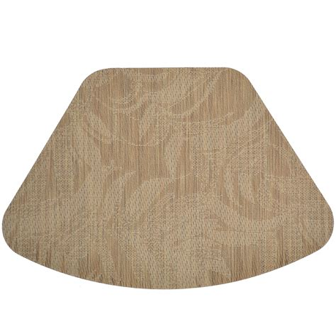wedge placemats tan tonal leaf wipe clean wedge shaped round table placemat at sweetpealinens