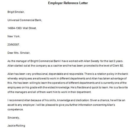 Reference Letter Knowing Person 40 awesome personal character reference letter