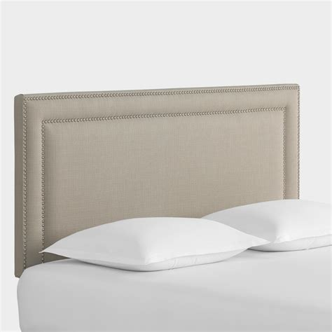 woven headboards textured woven treyton upholstered headboard world market
