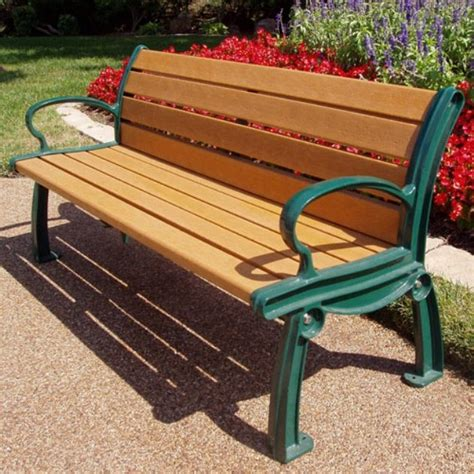 plastic park bench jayhawk plastics heritage recycled plastic park bench www