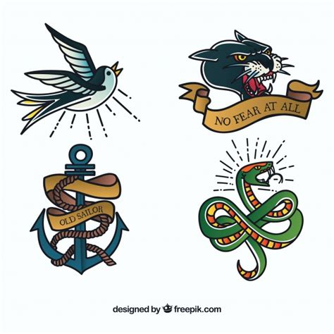 tattoo old school animal snake skin vectors photos and psd files free download