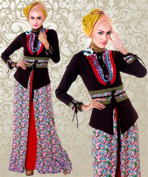 Baju Batik Fariasi model baju muslim variasi batik terbaru model baju gamis terbaru