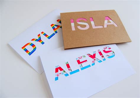 Diy Name Cards | diy name cards pictures photos and images for facebook