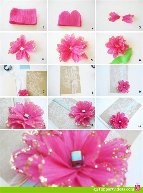 How To Make Paper Roses For Cards - diy tissue paper flower you could put it on birthday