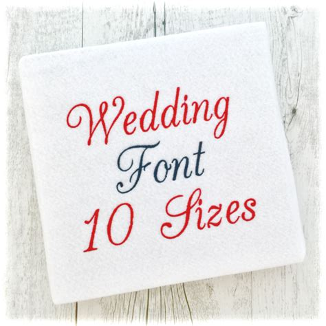 embroidery wedding wedding machine embroidery font 10 sizes available 2 40