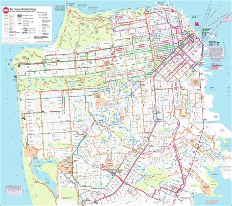 san francisco transportation map jpeg map of sf