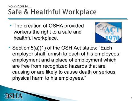 osha section 5 a 1 osha rights cdle 072911