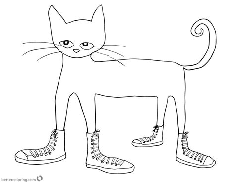 pete the cat coloring page shoes pete the cat coloring pages cat in shoes clipart free