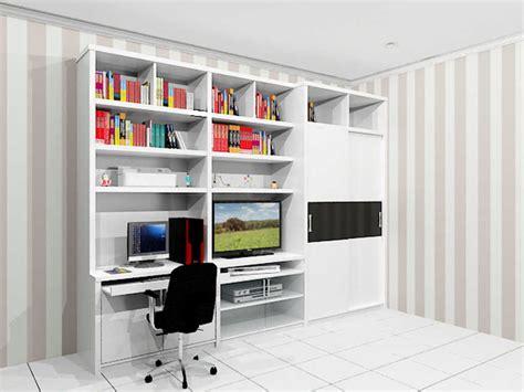 desain rak buku gantung minimalis bahan kayu terbaru