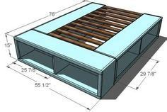 Diy Bedrooms diy bed frame with storage small bedrooms pinterest