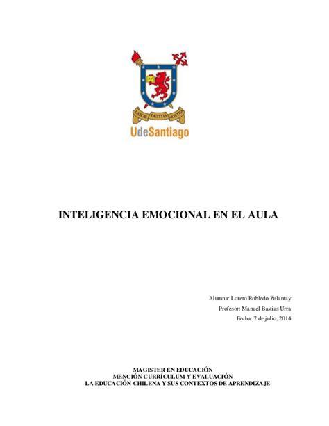 motivaci 211 n e innovaci 211 n docente inteligencia emocional en el aula