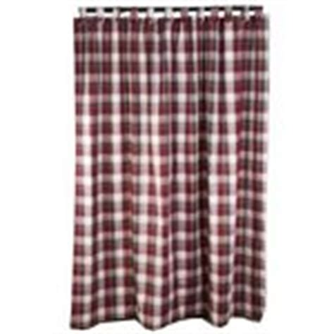 longaberger curtains longaberger paprika plaid tab top shower curtain new