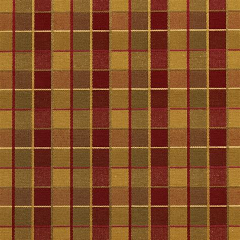 Upholstery Fabric Plaid by Burgundy And Gold Shiny Plaid Damask Upholstery Fabric