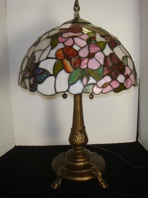 dale l shade 97 dale butterfly style stained glass l lot 97