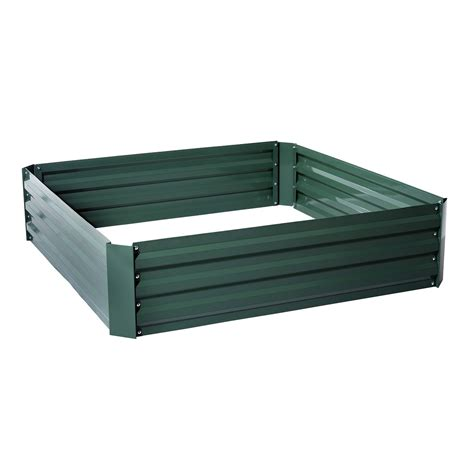 galvanized steel garden beds outsunny 26 quot x 26 quot x 12 quot galvanized metal raised garden