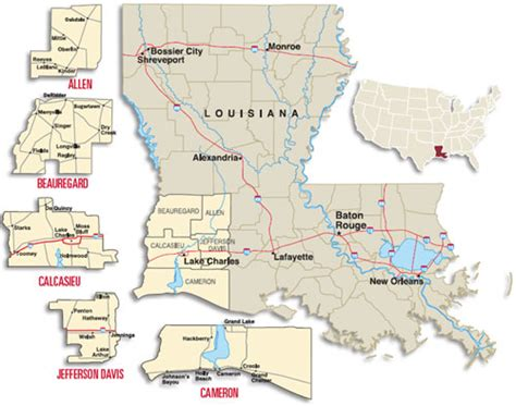 louisiana economy map a site selection investment profile southwest louisiana