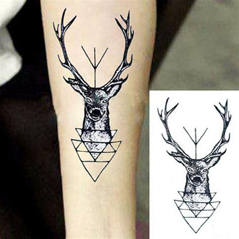 tattoo prices red deer animal pattern waterproof flash tattoo elk deer head