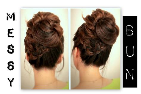 everyday hairstyles for medium hair for school cute everyday school hairstyles big messy bun with