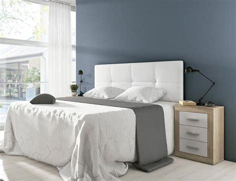 cabecero tapizado en polipiel color blanco roto  factory del mueble utrera