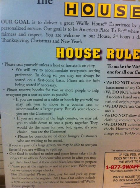 waffle house hinesville waffle house rules must read yelp