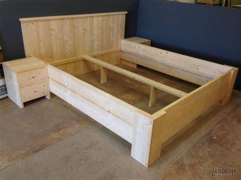 steigerhout bed 2 persoons bedombouw van steigerhout 2 persoons landelijk steigerhout