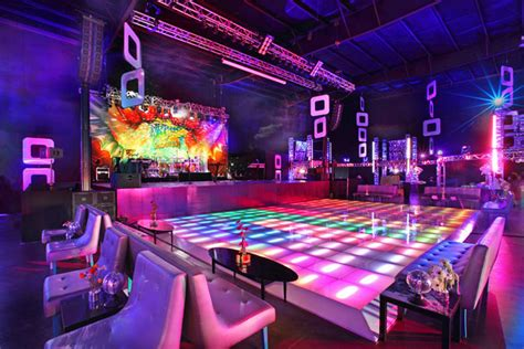 themed party nights birmingham guests danced on a colorful light up dance floor