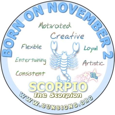 november birth november 2 birthday horoscope personality sun signs