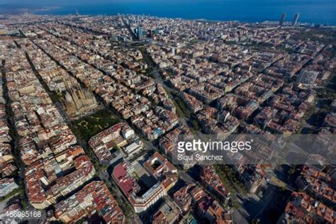 barcelona aerial view barcelona aerial view stock photos and pictures getty images