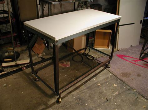 angle iron bed frame build a workbench cart from bed frame angle iron