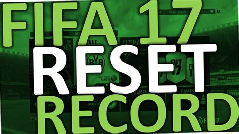 reset online record fifa 16 fifa 17 how to reset record catalogue ultimate team