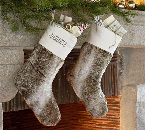 Pottery Barn Christmas Pillows Faux Fur Stocking Pottery Barn