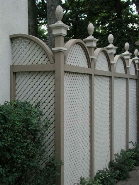 decorative privacy fences arched privacy fence with decorative caps