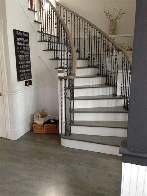 Modern Bathroom Vanities Toronto - wood floor amp stair refinishing grey stained coloured modern staircase toronto by