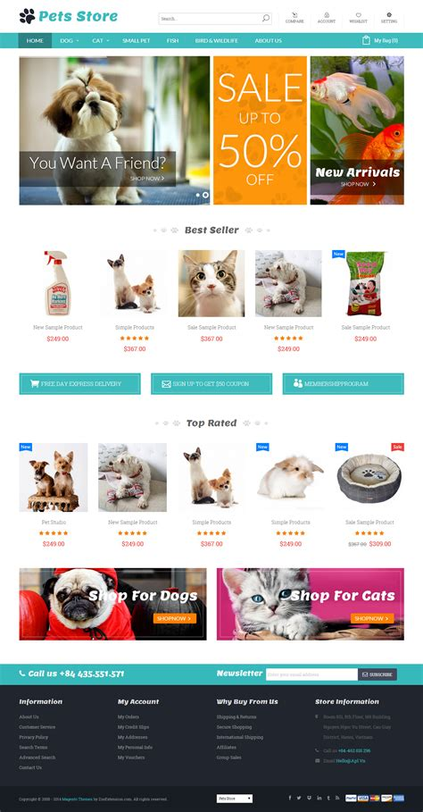 magento themes pet store best premium responsive magento pet store themes in 2014