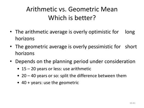 geometric pattern vs arithmetic ppt lessons from capital market history return risk