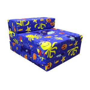 Children S Z Bed Children S Z Bed Fold Out Chair Aqua Time Sea Creatures