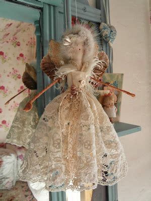 Handcrafted Fairies - handmade doll wishing you a merry