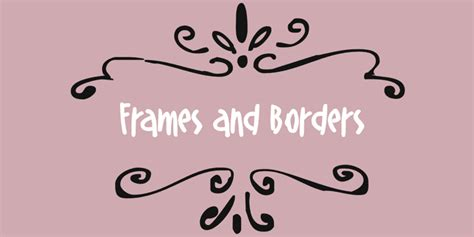 free wedding fonts and borders frames and borders font by outside the line fontspring