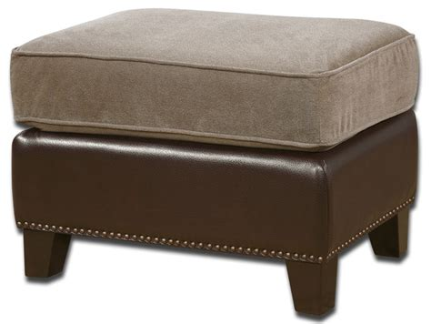 Ottoman Foot Stool by Dillard Velvet Ottoman Traditional Footstools And Ottomans