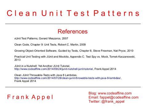 unit test pattern java clean unit test patterns