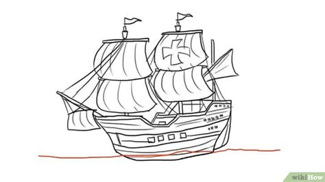 how to draw a boat from the first fleet een schip tekenen wikihow